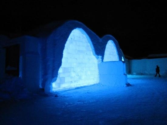 outside the Icehotel