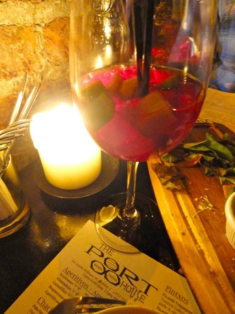 The Port House : Sangria by candlelight