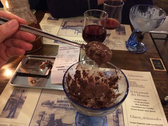 Le Louisiane : Worst chocolate ice cream ever !!