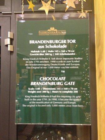 Rausch Schokoladenhaus: The numbers for the Brandenburger Gate in chocolate...