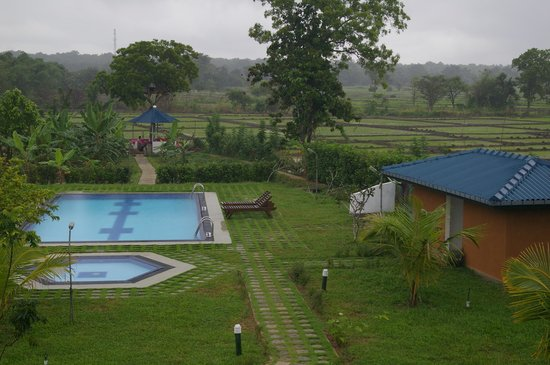 The Hideout Sigiriya: La piscine, le jardin