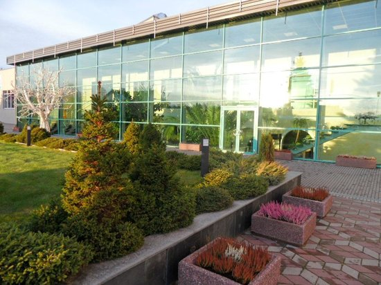 Toila Spa Hotell: Вид с улицы на велнес-центр Орхидея