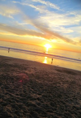 Dockweiler State Beach : the sunset