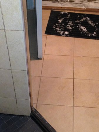Champagne Lodge and Luxury Suites: room 107 dirty shower and grout