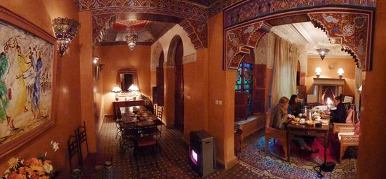 Riad Jardin Secret : Ontbijtkamer in de winter