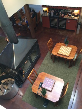 Brewery Gulch Inn: view of portion of Great Room from above