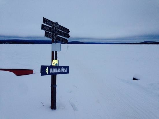 Icehotel: a day hike this photo taken at noon - prepare for the dark!