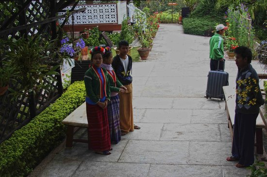 Pine Hill Resort, Kalaw: jardin de entrada