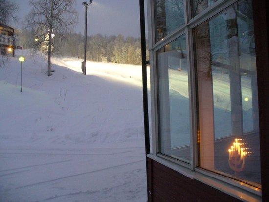 Tarnaby Fjallhotell: Ski Slope from Hotel rear entrance