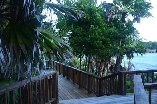 Media Luna Resort & Spa: accès à l'un des deck du site hôtelier