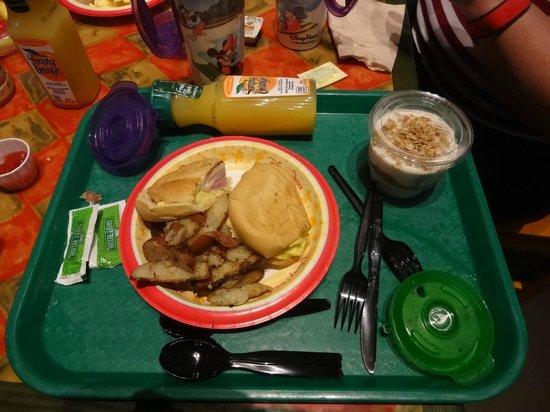 Disney S Caribbean Beach Resort Breakfast Cuban Sandwich