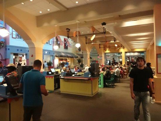 Disney S Caribbean Beach Resort Food Court Seating Area