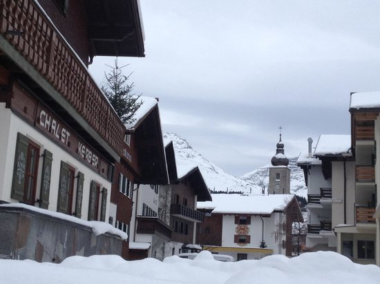 Chalet Kerber: Distance to parking garage (church)