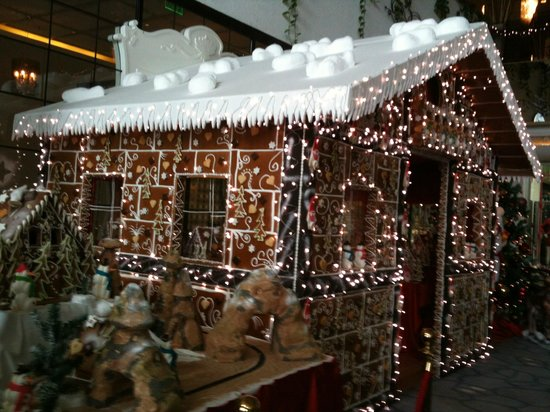 Maxx Royal Belek Golf Resort: 2012 Xmas Grotto made from gingerbread, this years was even better