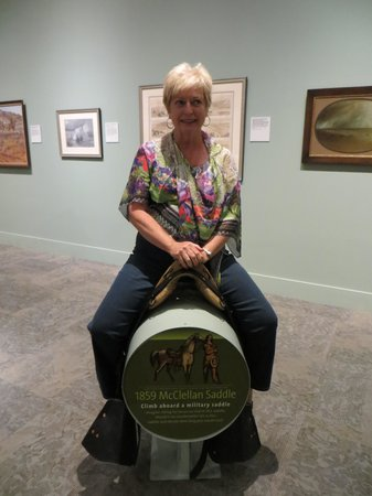 Buffalo Bill Historical Center : Marlane trying out the saddle.