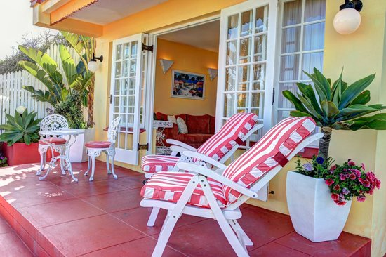 Haus am Strand - On the Beach: Terrace of  the Beach Bungalow, directly on the beach