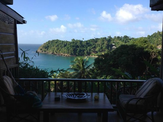 Castara Retreats: beautiful view from our balcony