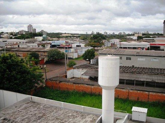 Lider Palace Hotel: VISTA DA CIDADE SENTIDO CENTRO E PARQUE DO IGUAÇU