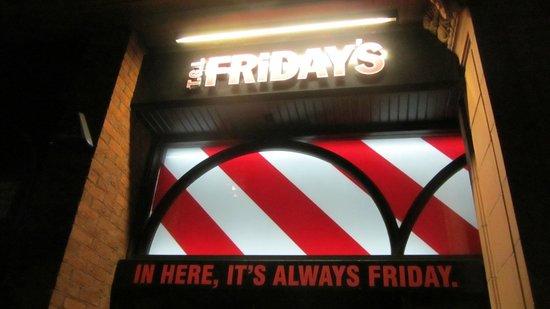 TGI Friday's - Covent Garden : sign2