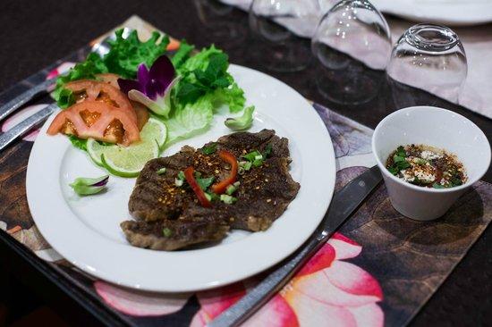 Koh Samet : Entrecôte aux herbes thaï