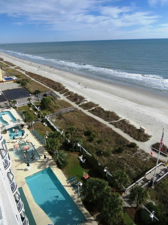 Hampton Inn & Suites Myrtle Beach/Oceanfront: View from our room
