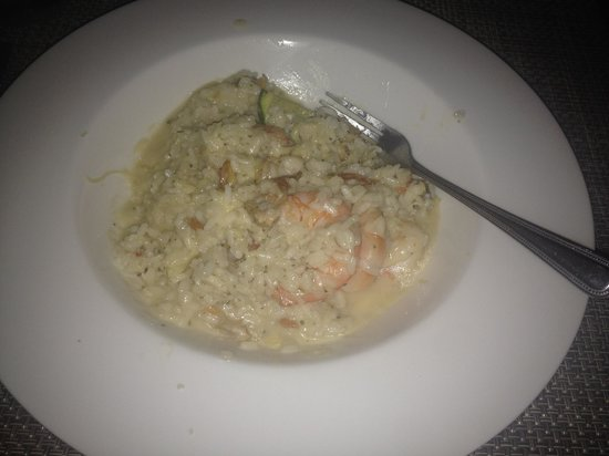 Los Olivos Restaurant at La Mision: Seafood Risotto.  Not a great pic but delicious!