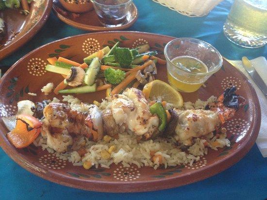 Las Mariscadas: Lobster Kebab