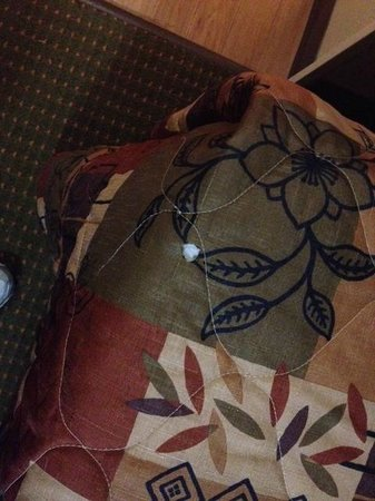 Home Towne Suites - Bentonville: burn in bedspread