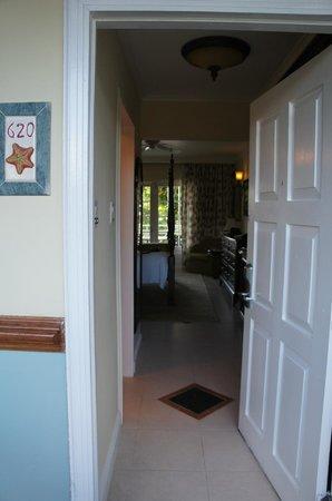 Sandals Montego Bay: main door of our room