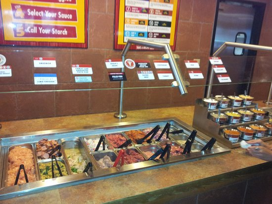 Genghis Grill: Meat selection