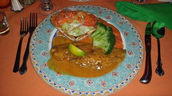 Harlequin Restaurant : Snapper fish with Seasonal Vegetables