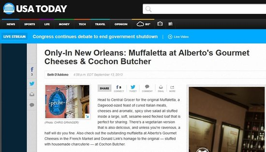 Alberto's Cheese & Wine Bistro: USA Today Review