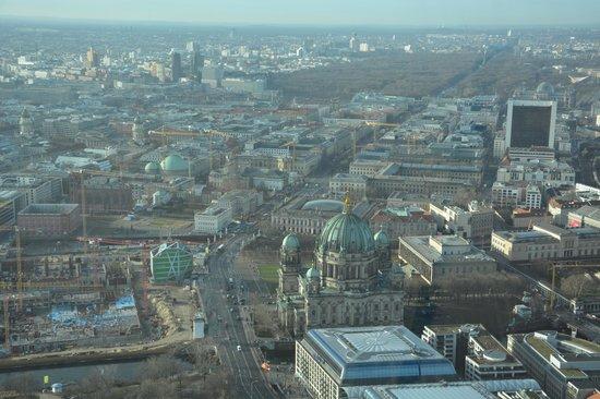 Berlin TV Tower : Vue depuis le haut de la tour