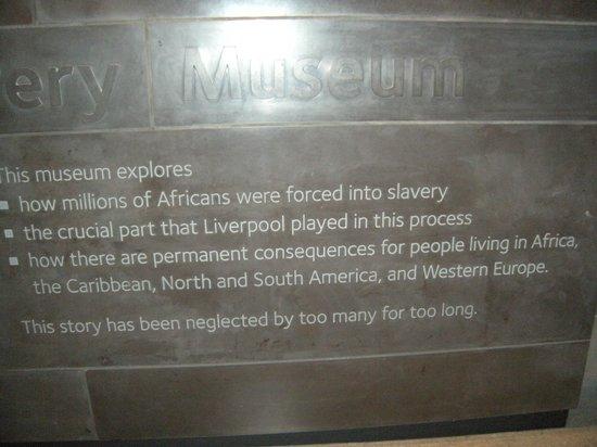 International Slavery Museum: Inscription at the Museum