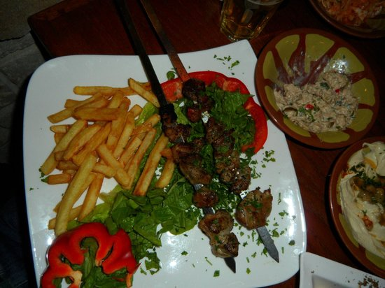 Darna Restaurant: Lamb shashlik main dish - tneder, juicy & tasty