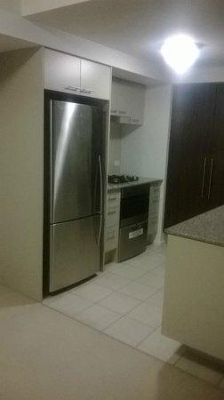 Oaks Aurora: 1bed kitchen fridge