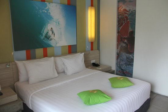 Bliss Surfer Hotel : Nice and attractive surfing theme room!