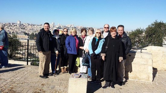 Olive Tree Hotel : ESG Methodist group above the Mt. of Olives