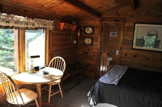 Tundra Rose Guest Cottages: cabine avec vue sur le glacier