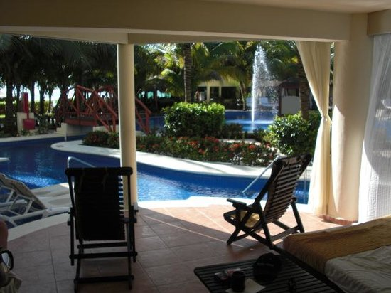 El Dorado Maroma, by Karisma : the view from our sleeping/lounging porch