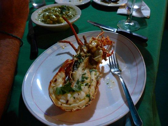 El Eden : The great lobster meal.