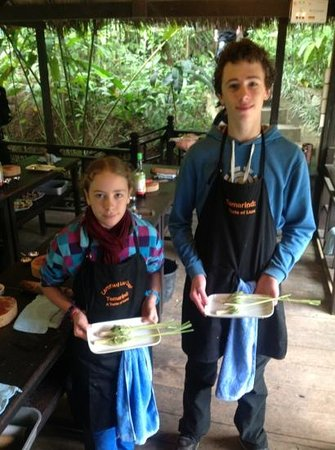 Tamarind Cooking Courses: lemongrass stuffed with chicken,
