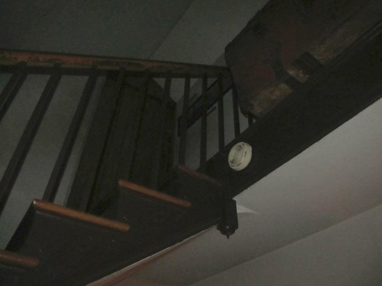 Farnsworth House Inn: The stairway to the attic, where Confederate snipers are still heard moving about.