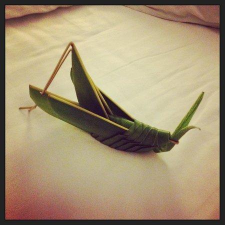 Anantara Mui Ne Resort : Friendly visitor made from folded leaves!