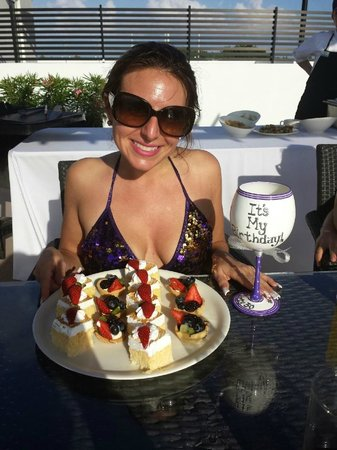 Azul Fives Hotel By Karisma: Birthday BBQ Dessert on the rooftop