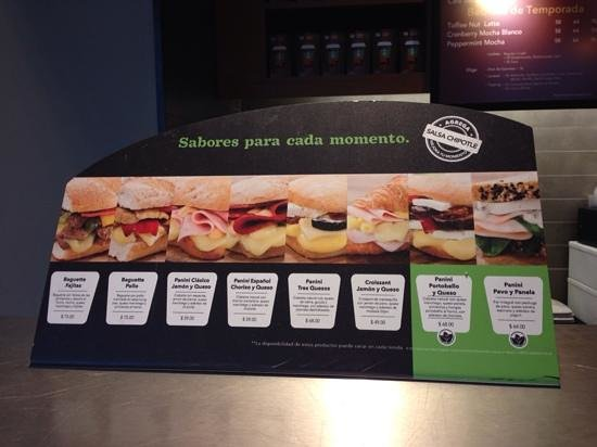 Starbucks : Different sandwich options!