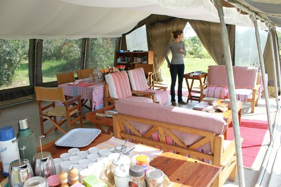 Ol Pejeta Bush Camp, Asilia Africa: The dining hall.