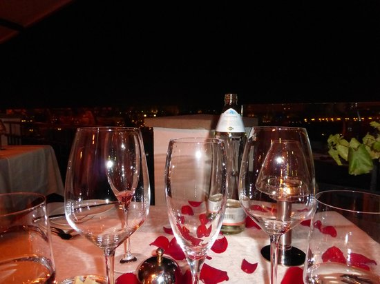 Golden Well Hotel: Our table at Terasa U Zlate Studne overlooking Prague