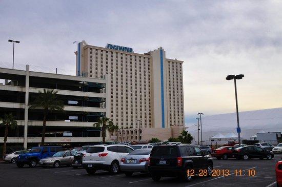 Aquarius Casino Resort: Outdoor Casino Parking lot