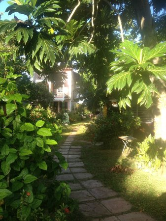 Firefly Beach Cottages: the gardens
